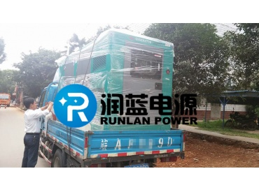 安庆中宜时尚苑小区80KW康明斯静音发电机组